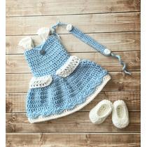 Vestido De Cenicienta Tejido A Crochet Envio Gratis