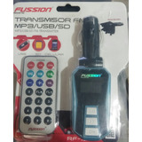 Transmisor Fm Mp3 Usb Sd, Para Carro,fussion
