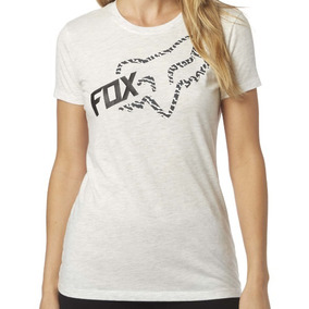 Remera Mujer Dama Fox Reacted Manga Corta Gris Speed Rider