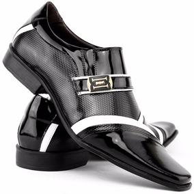 Sapato Social Masculino Verniz Em Couro Legítimo