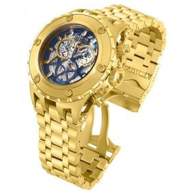 Relógio Invicta 13745 Subaqua Skeleton Prova Dagua Azul W45