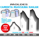 Moldes Camisetas Masculinas Raglan - Manga Curta E Longa