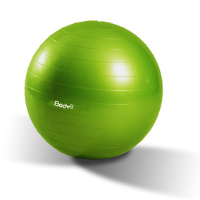 Pelota De Yoga Y Pilates 65 Cm Body Fit Verde Con Bomba