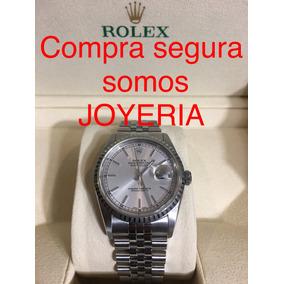 Rolex Datejust Acero Con Estuche Cristal Safiro Impecable