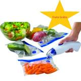 Seladora A Vacuo Alimento Portátil Techome + 18 Embalagens