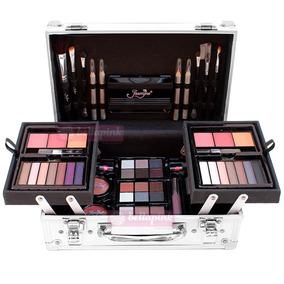 Maleta De Maquiagem Jasmyne Completa 49 Itens Kit Pinceis