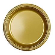 60 Platos Grande 9 In Alimento Oro Dorado Fiesta Desechables