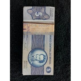 Cédulas De 5 Cruzeiros Pacote Com 100 Notas
