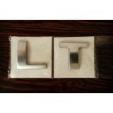 Emblema Lt Para Aveo,optra Y Silverado De Metal Pulido