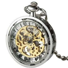 Smart.deal Abierto Antiguo Cara Plata Reloj Bolsillo Viento