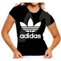 Baby Look Adidas Feminina Camiseta Personalisada Barato