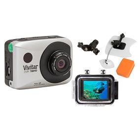 Câmera Filmadora De Ação Full Hd Dvr786 Vivitar + Kit P/