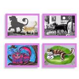 Cuadros Infantiles Kawaii Niños Gatos Diseños Combos Por 4