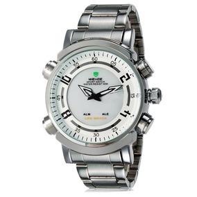 Relógio Masculino Weide Wh-1101 Anadigi Esporte Pr/br Com Nf