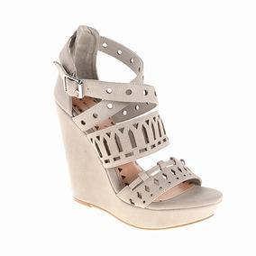 Zapato Dama Sandalia Montrose Beige Wedges Chinese Laundry