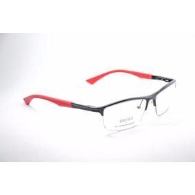 Armação Para Óculos Preto Grau Em Aluminio Esportivo 43100 39e7f5cc28