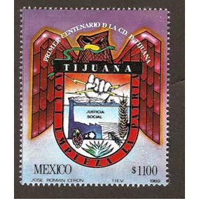 Estampilla Centenario De Tijuana Escudo1989 Nueva