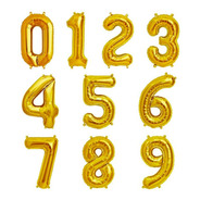 Balão Número Dourado 70cm Kit 2 Unidades