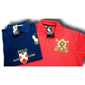 Kit 5 Camisa Polo Bordada Camiseta Masculina Barata Atacado