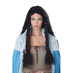 Disfraces De California Mujer Vikingo Princesa Wig, Brown O