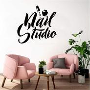 Diseño Adhesivo Salón De Belleza Uñas Nail Studio Manicure