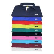 Kit 8 Camisa Gola Polo Fish Piquet Camiseta Atacado Revenda
