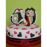 Adorno De Torta En Porcelana Fría Betty Boop