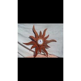 Reloj Artesanal De Madera De Algarrobo