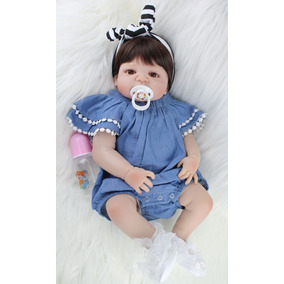 Bebê Alive Boneca Reborn 55cm 100% Silicone Encomenda Im46