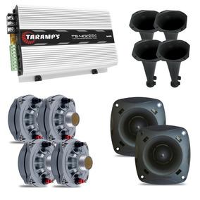 Kit C/ 4 Driver D250x Jbl + 2 St200 + 4 Cone + Taramps 400x4