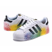 Tenis Adidas Superstar Fundantion Color Splash C/caixa