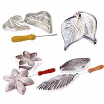 Frisador Kit 4 Frisadores Flores Eva Em Alumínio + Apostila