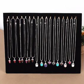 Mostrador Exhibidor Collar Colgante Joyas Terciopelo X17