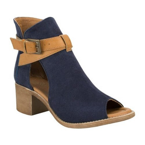 5c82e688018cc Botines Mujer Tipo Sandalia - Zapatos Azul oscuro en Mercado Libre ...