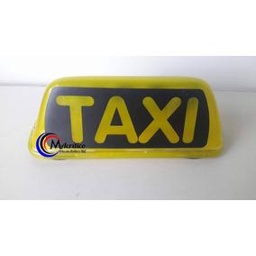 Luminoso Táxi Amarelo Máscara Preta Imantado