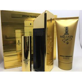 Kit One Million Perfume 100ml + Gel Banho + Miniatura 10ml