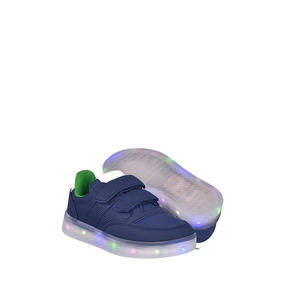 Tenis Casuales Para Niño Led & Wheels Hg17340bb Marino