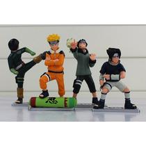 Boneco Naruto Sasuke Rock Lee 4 Peças Action Figure