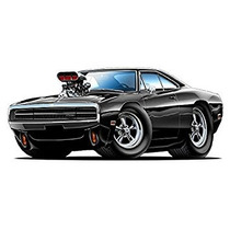 1970 Dodge Charger De Dom Blown Hemi Pegatinas De Pared Gr