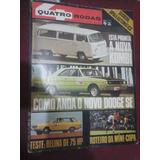 Quatro Rodas Novo Dodge Se Belina 1972