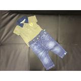 Conjunto Offcorss Camisa Jeans
