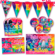 Kit Candy Bar Trolls Invitaciones, Stickers, Banderín Cartel