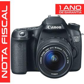 Câmera Canon Eos 70d Dslr 20.2mp + Lente 18-55mm Stm