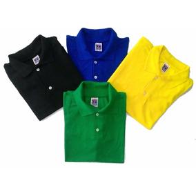 Camisa Pólo Lisa P/ Ser Bordada Logo Personalizada; Uniforme