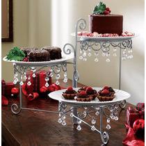 Base Soporte Para Pastel Postres Cupcakes 3 Niveles Pedreria
