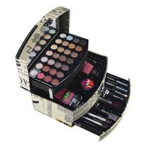 Maleta De Maquiagem Completa 48 Itens, 28 Sombras Jasmyne