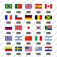 Adesivos Retro Antigos Vintage Malas E Bandeiras 20 Unidades