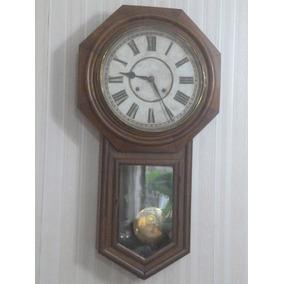 Reloj Tipo Ferrocarril Ansonia Clock Usa Gran Tamaño Funcion
