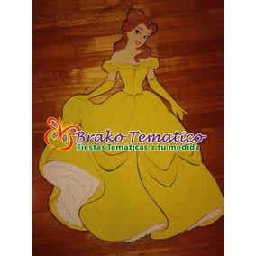 Princesas - Bella - Figuras Goma Eva Cumpleaños Temáticos