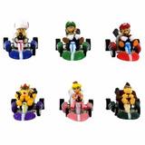 Coleção 6 X Carrinhos Mario Kart Com Fricção Pronta Entrega